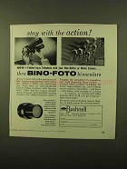 1957 Bushnell Bino-Foto Binoculars Ad - With Action