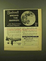 1957 Bushnell Spacemaster Telephoto System Ad