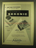 1956 Sekonic Leader and Compact Exposure Meters Ad