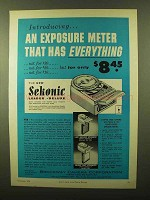 1956 Sekonic Leader Deluxe Meter Ad - Has Everything