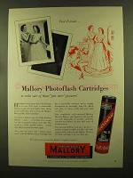 1956 Mallory Photoflash Cartridges Ad - First Formal