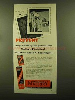 1956 Mallory Photoflash Batteries and B-C Cartridges Ad