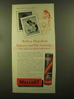 1956 Mallory Photoflash Batteries and B-C Cartridges Ad - Insurance