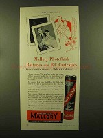 1956 Mallory Photoflash Batteries and B-C Cartridges Ad - Home