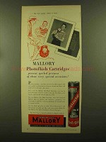 1956 Mallory Photoflash Cartridges Ad - New Puppy