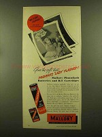 1956 Mallory Photoflash Batteries and B-C Cartridges Ad - Lazy