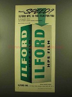 1956 Ilford HPS Film Ad - Need Speed?