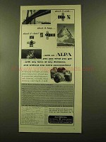1956 Alpa Camera Ad - Shoot it Wide Shoot it Long