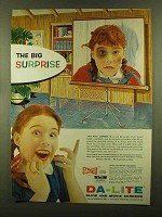 1956 Da-Lite Challenger Screen Ad - The Big Surprise