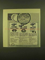 1956 Tiffen Ad - Hi-Trans Screw-in Filters, Lens Caps