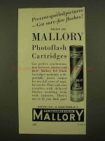 1956 Mallory Photoflash Cartridges Ad - Sure-Fire