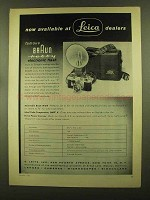 1955 Braun Hobby Electronic Flash Ad - At Leica Dealers