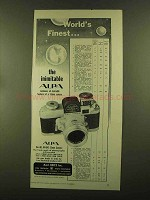 1955 Alpa Camera Ad - World's Finest