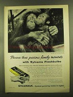 1955 Sylvania Flashbulbs Ad - Precious Family Moments