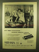 1953 Sylvania Flashbulbs Ad - Thanksgiving Memories
