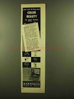 1953 Marshall's Photo-Oil Colors Ad - Color Beauty