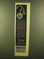 1953 Marshall's Photo-Oil Colors Ad - Perfect Answer