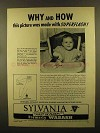1950 Sylvania Superflash Bulbs Ad - Why and How!