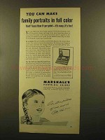 1950 Marshall's Photo-Oil Colors Ad - Family Portraits