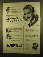 1950 Marshall's Photo-Oil Colors Ad - Photo-Fan Budget