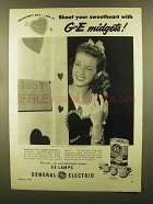 1950 General Electric Photoflash Lamps Ad - Sweetheart