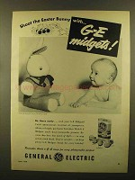 1950 General Photoflash Lamps Ad - Easter Bunny