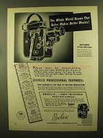 1950 Bolex Movie Cameras Ad - Whole World Knows