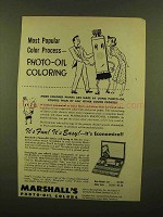 1950 Marshall's Photo-Oil Colors Ad - Popular