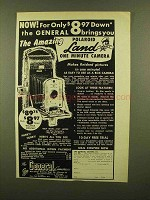 1950 polaroid Land Camera Ad - The General Brings