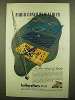 1946 Hallicrafters Radio Ad - Radio Communications