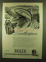 1945 Bolex Movie Cameras Ad - Smooth Performer