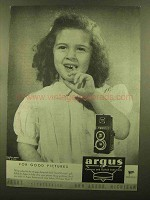 1945 Argus Argoflex Camera Ad - For Good Pictures