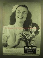 1945 Argus Argoflex Camera Ad - For Pictures