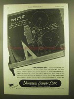 1945 Universal Camera P-500 8mm Projector Ad