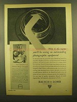 1945 Bausch & Lomb Lenses Ad - This is the Name