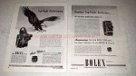 1945 Bolex H-16 and L-8 Movie Cameras Ad - Top-Flight