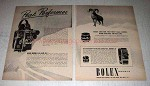 1945 Bolex H-16, H-8 and L-8 Movie Cameras Ad - Peak