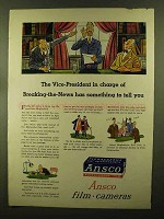 1944 Ansco Film & Cameras Ad - Vice-President in Charge