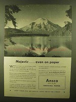 1944 Ansco Brovira Paper Ad - Majestic Even on Paper