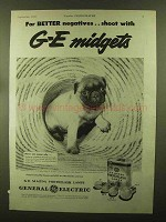 1944 General Electric Mazda Photoflash Lamps Ad - Midgets