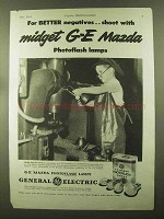 1944 General Electric Mazda Photoflash Lamps Ad