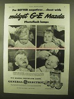 1944 General Electric Mazda Photoflash Lamps Ad - Shoot With
