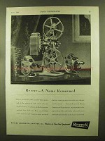 1944 Revere Movie Cameras and Projectors Ad - Renowned