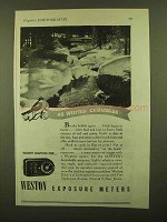 1944 Weston Exposure Meter Ad - As Winter Crumbles