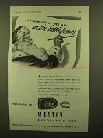1944 Weston Exposure Meter Ad - On the Battle Fronts