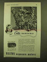 1944 Weston Exposure Meter Ad - Color Barrage