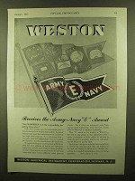 1943 Weston Instruments Ad - Army-Navy E Award