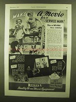 1943 Revere Movie Cameras and Projectors Ad