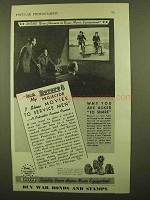 1943 Revere Movie Equipment Ad - Show to Service Men
