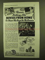 1943 Revere Movie Equipment Ad - Movies From Home